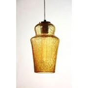 D'Fine Lighting Vintage 1 Light Mini Pendant; Amber