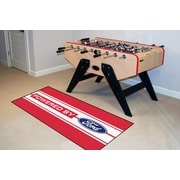 FANMATS Ford Oval Red/White Stripe Area Rug