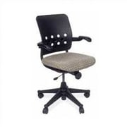 Virco Ph.D. Mid-Back Plastic Executive Chair; Fabric Pacifica Graphite