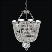 Glow Lighting Modern Time 3 Light Duo Mount Pendant; Danube Clear Crystal