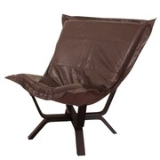 Howard Elliott Milan Avanti Puff Chair; Pecan