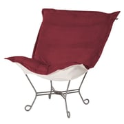 Howard Elliott Bella Scroll Puff Lounge Chair; Titanium