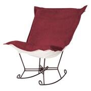 Howard Elliott Bella Scroll Puff Rocking Chair; Mahogany