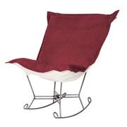 Howard Elliott Bella Scroll Puff Rocking Chair; Titanium