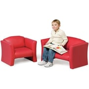 Playscapes Jelly Bean Kids Sofa; Red