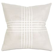 Thom Filicia Home Collection Reflection Criss-Cross Throw Pillow; Frost