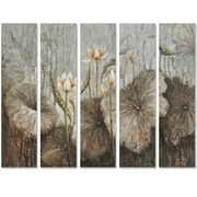 Yosemite Home Decor Revealed Art Flowers in the Wild Original 5 Piece Painting Canvas Set