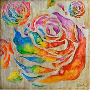 Yosemite Home Decor Revealed Artwork Colored Roses II Original Painting on Wrapped Canvas