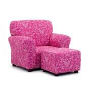 KidzWorld Kids Small Club Chair & Ottoman Set