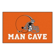 FANMATS NFL Cleveland Browns Man Cave Outdoor Area Rug; 5' x 8'