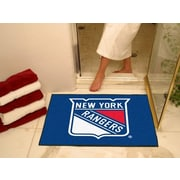 FANMATS NHL New York Rangers Starter Doormat; 2'10'' x 3'8.5''