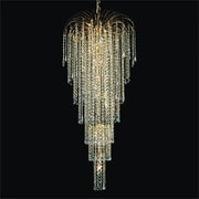 Glow Lighting Cascade 9 Light Grand Chandelier; Signature Clear Crystal