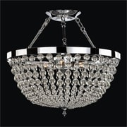 Glow Lighting Arcadia 6 Light Semi Flush Mount