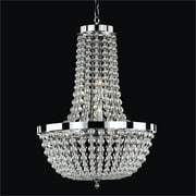 Glow Lighting Arcadia 9 Light Crystal Chandelier