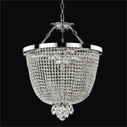 Glow Lighting Modern Times 3-Light Duo Mount Pendant; Danube Clear Crystal