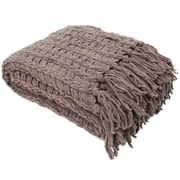 J&M Home Fashions Luxury Chenille Throw Blanket; Sable