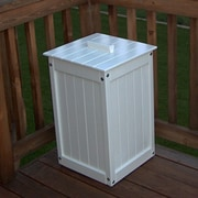 Prairie Leisure Design Waste Receptacle with Liner; Satin White