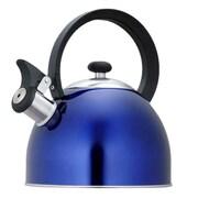 Creative Home Prelude 2.1 Qt. Whistle Tea Kettle; Metallic Blue