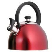 Creative Home Prelude 2.1 Qt. Whistle Tea Kettle; Metallic Cranberry