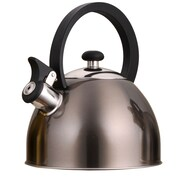 Creative Home Prelude 2.1 Qt. Whistle Tea Kettle; Metallic Smoke