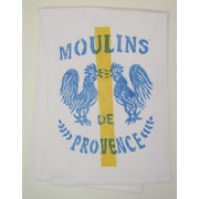 Lowcountry Linens Natural Moulins Kitchen Towel; Blue/Golden