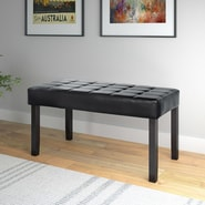 CorLiving California Upholstered Entryway Bench; Black