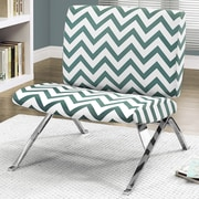Monarch Specialties Inc. Chevron Lounge Chair; Teal