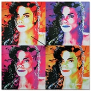 Metal Art Studio 'Michael Jackson' Colorful Urban Pop Art Wall Clock