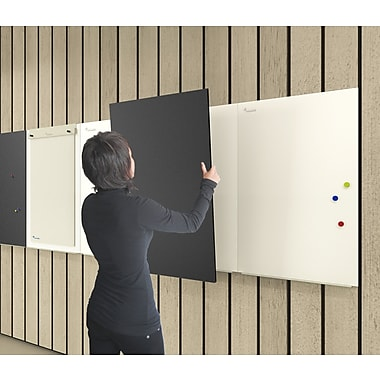 Paperflow Rocada Skin Wall Mounted Whiteboard; 31.5'' H x 14'' W x .5'' D