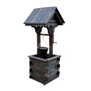 Shine Company Inc. Wishing Well Lawn Accent; Burnt Brown