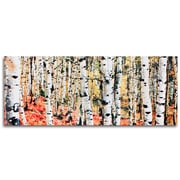 Metal Art Studio Aspen Grove Autumn Fall Aspen Trees Landscape by Modern Crowd Graphic Art