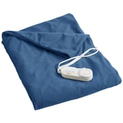 Biddeford Blankets Comfort Knit Heated Polyester Throw; Denim