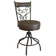 Artisan Home Furniture Cantina Adjustable Height Swivel Bar Stool with Cushion