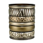 Popular Bath Products Safari Stripe Waste Basket