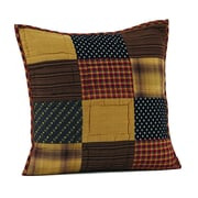 VHC Brands Patriotic Patch Quilted Pillow Cover