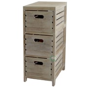 Quickway Imports 3 Drawer Crate Chest