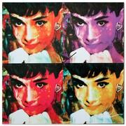 Metal Art Studio 'Audrey Hepburn' Colorful Urban Pop Art Wall Clock