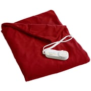 Biddeford Blankets Comfort Knit Heated Polyester Throw; Brick