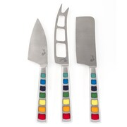 Fiesta Masquerade 3 Piece Cheese Knife Set
