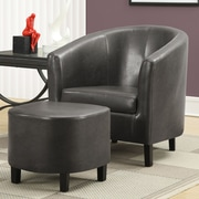 Monarch Specialties Inc. Barrel Chair and Ottoman