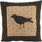 VHC Brands Kettle Grove Crow Cotton Throw Pillow