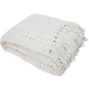 J&M Home Fashions Luxury Chenille Throw Blanket; Cream