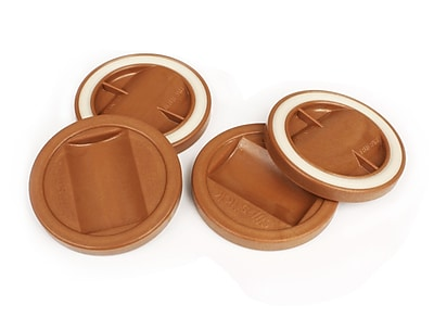 Slipstick Bed Roller/Furniture Wheel Gripper Cup Coaster (Set of 4); Caramel WYF078277553553