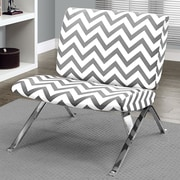 Monarch Specialties Inc. Chevron Lounge Chair; Grey