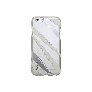 AviiQ Torn Pattern iPhone 6 Plus Phone Case, White and Metallic Silver