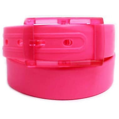 Colourful Silicone Waist Belt, Neon Pink
