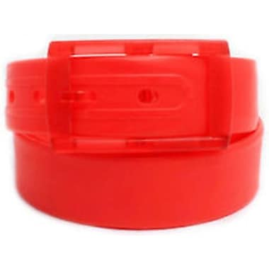 Colourful Silicone Waist Belt, Red
