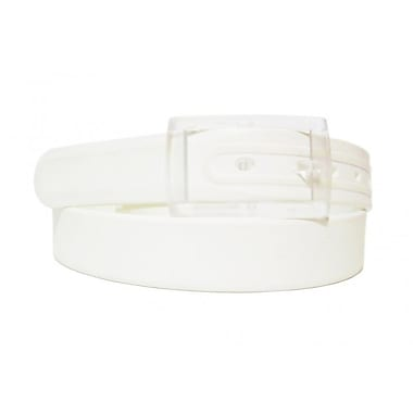 Colourful Silicone Waist Belt, White