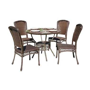 W Unlimited Outdoor Patio Furniture, Earth Collection 5-Piece Dining Set, Cappuccino