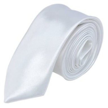 Casual Stylish Slim Necktie, White